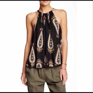 🍀 lucky brand exploded paisley tank top